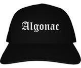 Algonac Michigan MI Old English Mens Trucker Hat Cap Black