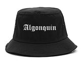 Algonquin Illinois IL Old English Mens Bucket Hat Black