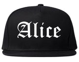 Alice Texas TX Old English Mens Snapback Hat Black