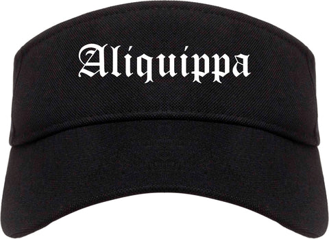 Aliquippa Pennsylvania PA Old English Mens Visor Cap Hat Black