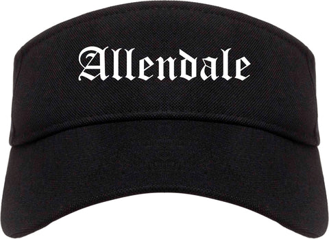 Allendale New Jersey NJ Old English Mens Visor Cap Hat Black