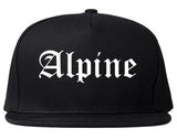 Alpine Utah UT Old English Mens Snapback Hat Black