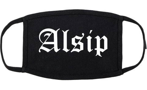 Alsip Illinois IL Old English Cotton Face Mask Black