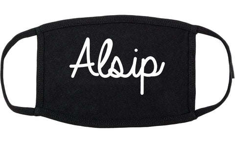 Alsip Illinois IL Script Cotton Face Mask Black