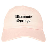 Altamonte Springs Florida FL Old English Mens Dad Hat Baseball Cap Pink