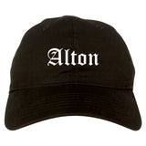 Alton Texas TX Old English Mens Dad Hat Baseball Cap Black