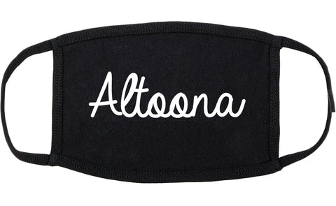Altoona Iowa IA Script Cotton Face Mask Black