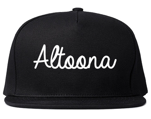 Altoona Iowa IA Script Mens Snapback Hat Black