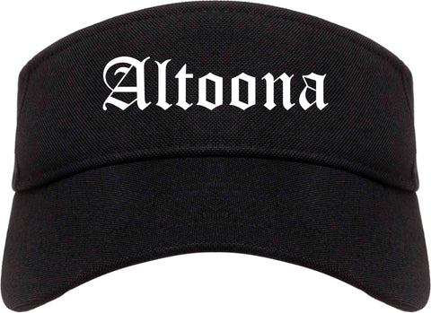 Altoona Iowa IA Old English Mens Visor Cap Hat Black