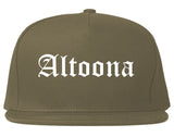 Altoona Pennsylvania PA Old English Mens Snapback Hat Grey