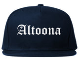 Altoona Pennsylvania PA Old English Mens Snapback Hat Navy Blue