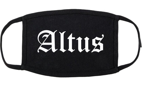 Altus Oklahoma OK Old English Cotton Face Mask Black