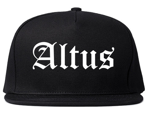 Altus Oklahoma OK Old English Mens Snapback Hat Black