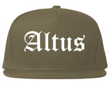 Altus Oklahoma OK Old English Mens Snapback Hat Grey