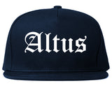 Altus Oklahoma OK Old English Mens Snapback Hat Navy Blue