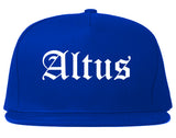 Altus Oklahoma OK Old English Mens Snapback Hat Royal Blue