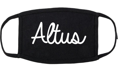 Altus Oklahoma OK Script Cotton Face Mask Black