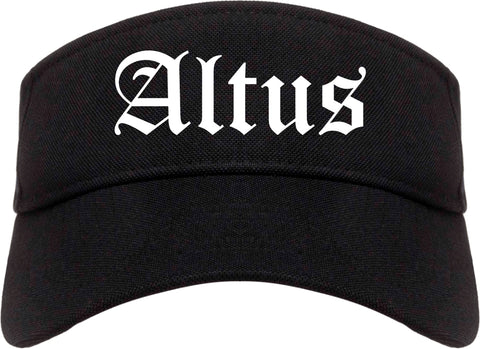 Altus Oklahoma OK Old English Mens Visor Cap Hat Black