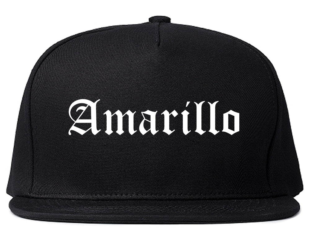 Amarillo Texas TX Old English Mens Snapback Hat Black
