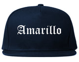 Amarillo Texas TX Old English Mens Snapback Hat Navy Blue