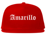 Amarillo Texas TX Old English Mens Snapback Hat Red
