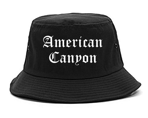 American Canyon California CA Old English Mens Bucket Hat Black