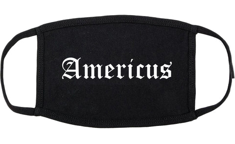 Americus Georgia GA Old English Cotton Face Mask Black