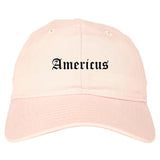 Americus Georgia GA Old English Mens Dad Hat Baseball Cap Pink