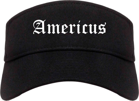 Americus Georgia GA Old English Mens Visor Cap Hat Black