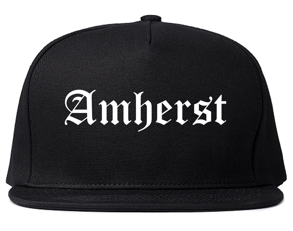 Amherst Ohio OH Old English Mens Snapback Hat Black