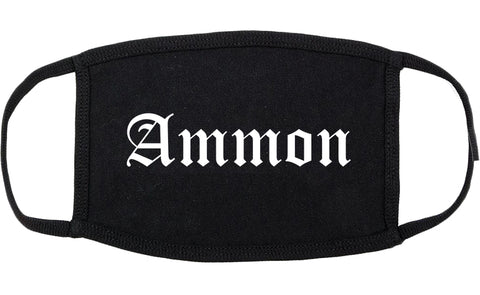 Ammon Idaho ID Old English Cotton Face Mask Black
