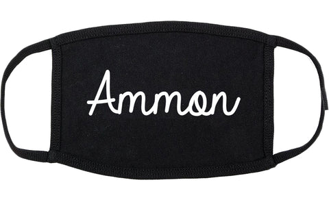 Ammon Idaho ID Script Cotton Face Mask Black