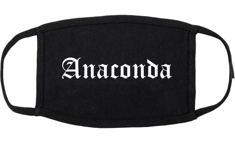 Anaconda Montana MT Old English Cotton Face Mask Black