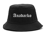 Anadarko Oklahoma OK Old English Mens Bucket Hat Black