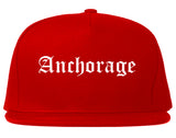 Anchorage Alaska AK Old English Mens Snapback Hat Red