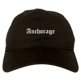 Anchorage Alaska AK Old English Mens Dad Hat Baseball Cap Black