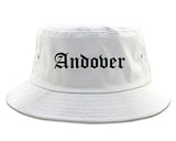 Andover Kansas KS Old English Mens Bucket Hat White