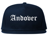 Andover Minnesota MN Old English Mens Snapback Hat Navy Blue