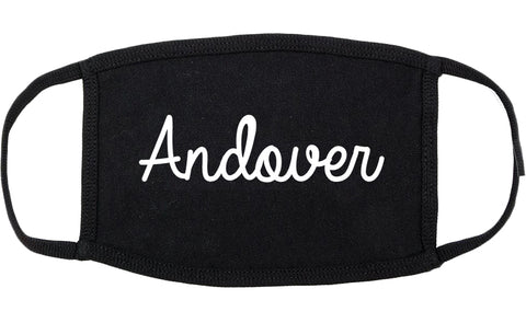 Andover Minnesota MN Script Cotton Face Mask Black