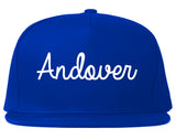 Andover Minnesota MN Script Mens Snapback Hat Royal Blue