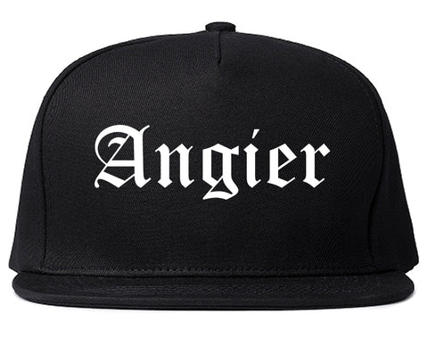 Angier North Carolina NC Old English Mens Snapback Hat Black