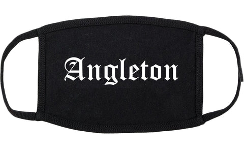 Angleton Texas TX Old English Cotton Face Mask Black