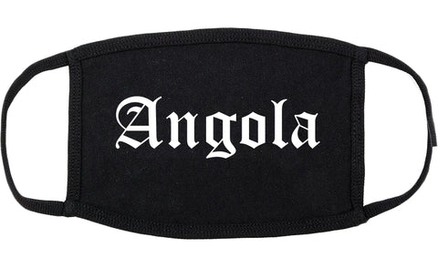 Angola Indiana IN Old English Cotton Face Mask Black