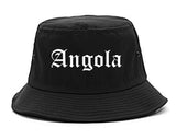 Angola Indiana IN Old English Mens Bucket Hat Black