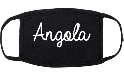 Angola Indiana IN Script Cotton Face Mask Black