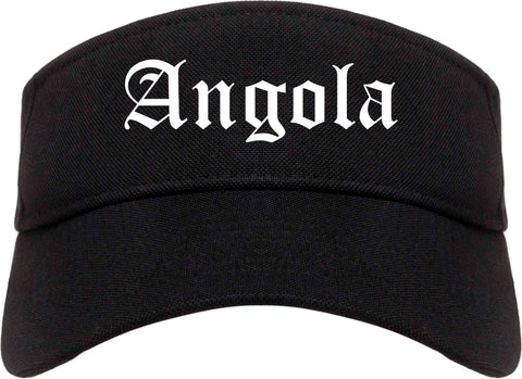 Angola Indiana IN Old English Mens Visor Cap Hat Black