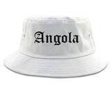 Angola Indiana IN Old English Mens Bucket Hat White