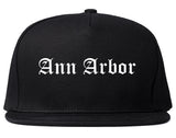Ann Arbor Michigan MI Old English Mens Snapback Hat Black