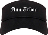 Ann Arbor Michigan MI Old English Mens Visor Cap Hat Black