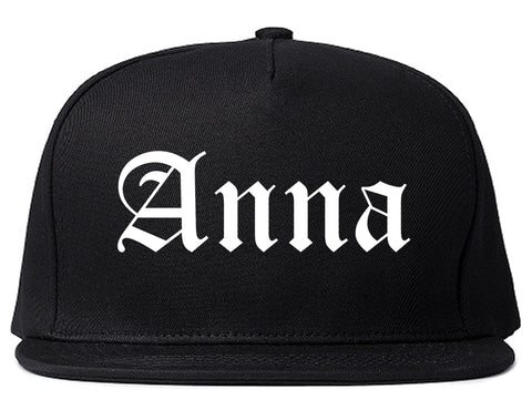 Anna Illinois IL Old English Mens Snapback Hat Black